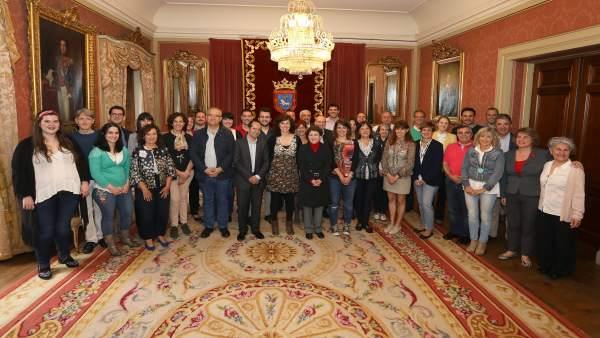Recepción del Ayuntamiento de Pamplona a la Coral de Cámara