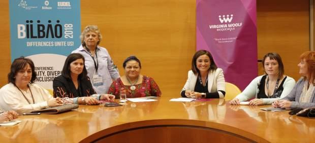 Rigoberta Menchú y Basqueskola