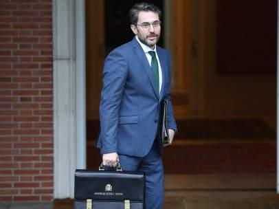 Maxim Huerta, ministro de Cultura y Deporte, llega a su primer Consejo