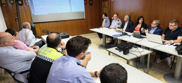 Reunión de la alcaldesa con la Policía Local