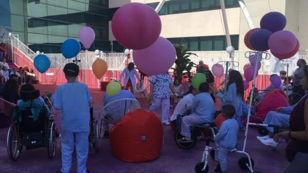 Nuevo jardín para los niños pacientes de La Fe en la azotea