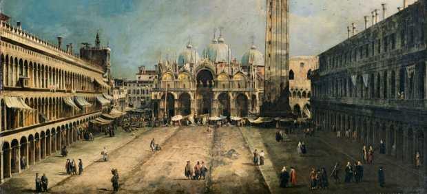 Cuadro la plaza de san marcos en venecia canaletto
