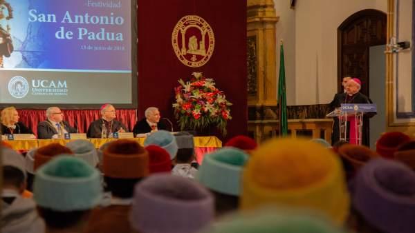 Imagen de la lección inaugural de los actos del patrón