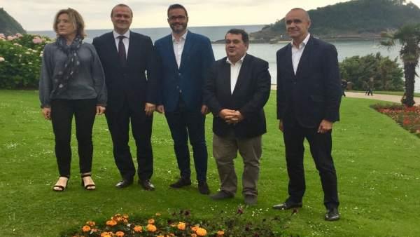 Representantes de San Sebastián, Sevilla, Palma y las Palmas de Gran Canaria