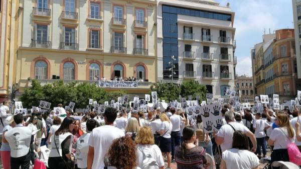 Manifestación en Málaga por Lucía Vivar