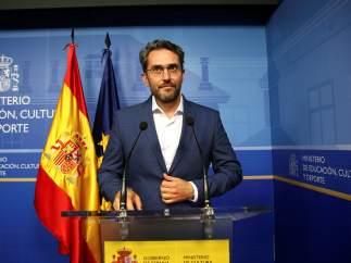 Màxim Huerta, ya exministro de Cultura y Deportes.