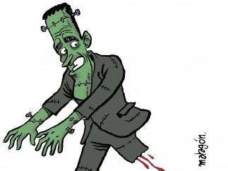 El gobierno Frankenstein, viñeta de Malagón