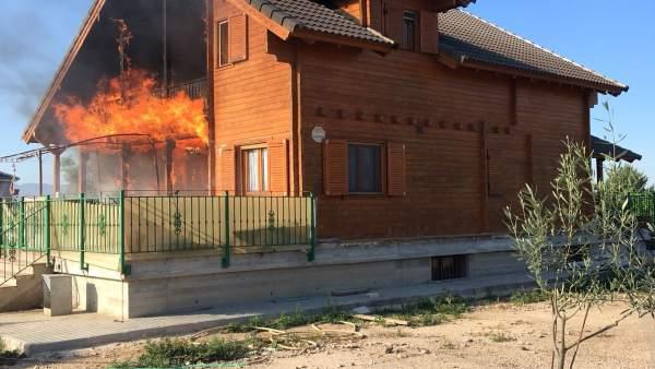Imagen de la vivienda incendiada