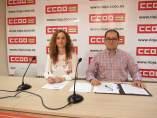Alvaro Fuertes y Ana Belén Moreno de CCOO La RIoja