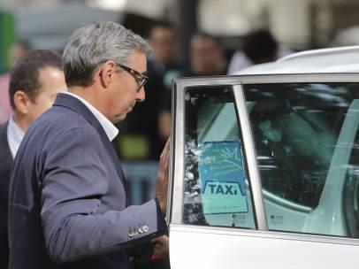 Diego Torres a su salida de la Audiencia de Palma.