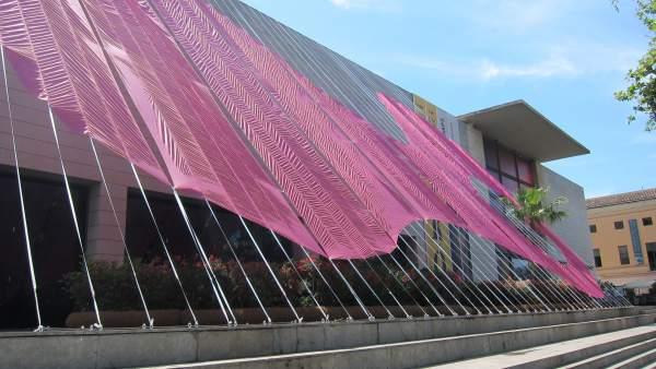 Intervención arquitectónico-artística 'Esa cosa rosa' en el IVAM