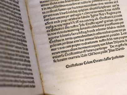 La 'Carta de Colón' devuelta a la Biblioteca Vaticana tras su robo.