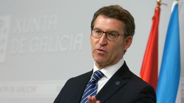 Alberto Núñez Feijóo, presidente de la Xunta, en rueda de prensa