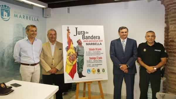 Presentación jura de bandera civil en Marbella