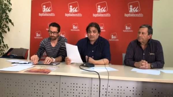 Ismael González y Alejandro Suárez, tras la reunión