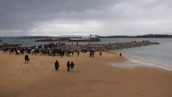 Protesta diques La Magdalena
