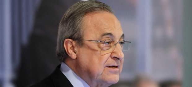 Florentino Pérez, durante la presentación de Lopetegui