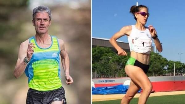 Martín Fiz y Raquel Gómez