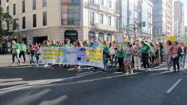 Manifestación sindicatos docentes