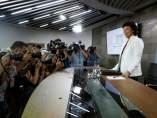 Isabel Celaá, portavoz del Gobierno, al comienzo de la rueda de prensa posterior al Consejo de MInistros.