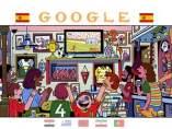 Doodle mundialista de Google.
