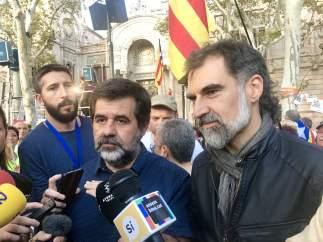 Jordi Sànchez (ANC) y Jordi Cuixart (Òmnium)