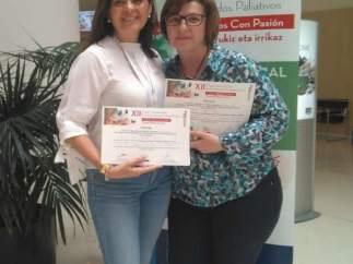 Premiadas en el Congreso de la Sociedad Española de Cuidados Paliativos
