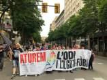 Manifestación contra la LGTBI-fobia en Girona