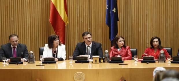 Sánchez en la reunión del Grupo Parlamentario