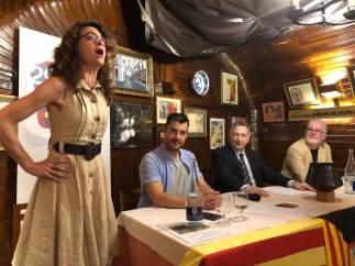 Carmen París en el XIV Premio Aragoneses en Madrid.