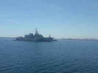 Llegada del Orione al Puerto de València
