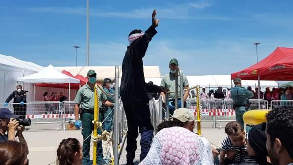 Llegada de inmigrantes a Valencia