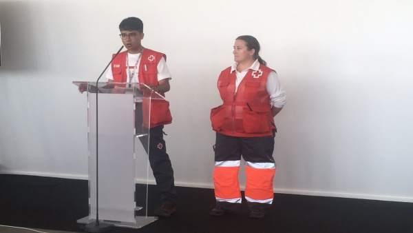 Rueda de prensa de Cruz Roja tras la llegada del Aquarius