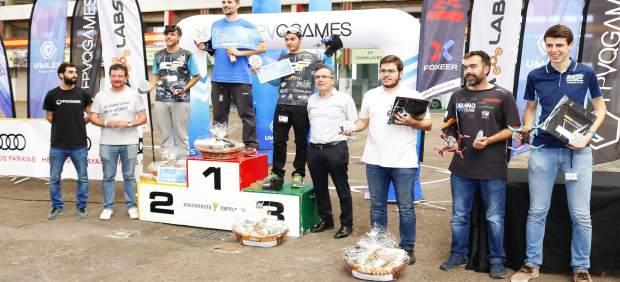 Entrega de premios en la 'Drone Race'