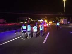 Muere un joven de 19 años atropellado en la autopista A-2 al cruzar la autovía
