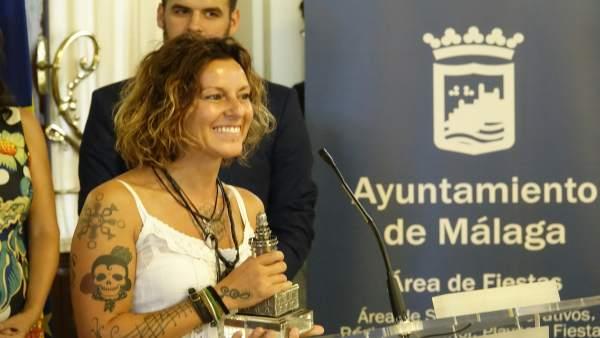 Lamari, de Chambao, en un acto en el Ayuntamiento de Málaga