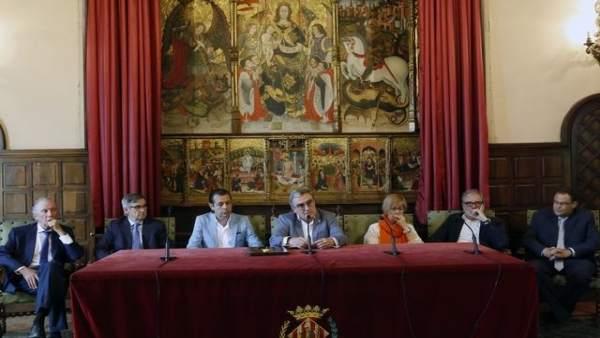 Firma del contrato de obras del futuro Museu d'Art de Lleida