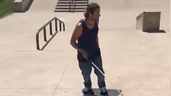 El patinador ciego que lucha por su sueño
