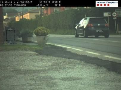 Cazado un conductor a 167 km/h en Olot.