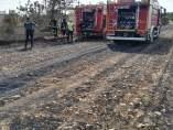 Actuación de los bomberos de Carmona