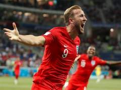 Harry Kane, celebrando un tanto en el Inglaterra - Túnez de Rusia 2018.