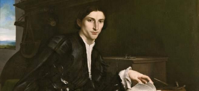 Retrato de caballero joven (Cristoforo Rover), 1532. Lorenzo Lotto