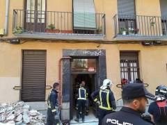 Se derrumba parte de una corrala en el barrio madrileño de Chamberí