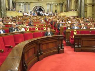 Quim Torra e Inés Arrimadas en el Parlament (Archivo)