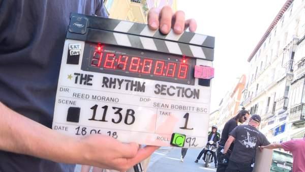 El rodaje de la película 'The Rhythm Section' en Madrid.