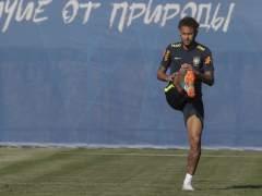 Neymar se retira del entrenamiento