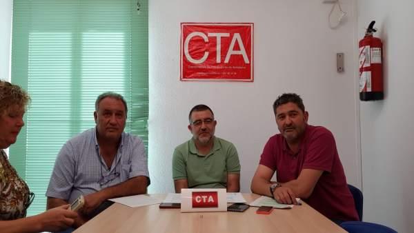 Representantes sindicales de CTA