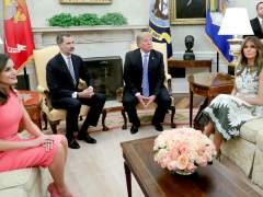 """Trump recibe a los reyes Felipe y Letizia en la Casa Blanca: """"Iré a España"""""""
