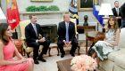 Trump recibe a los reyes en la Casa Blanca