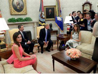 Los reyes, en la Casa Blanca
